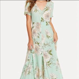 SHEIN Button Floral Maxi Dress NWOT Medium